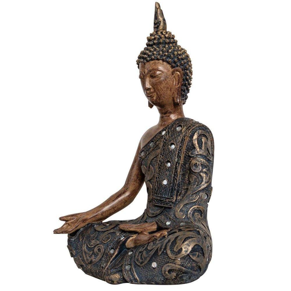 Buddha Meditation Feng Shui Figur Skulptur Asien Dekoration Antik