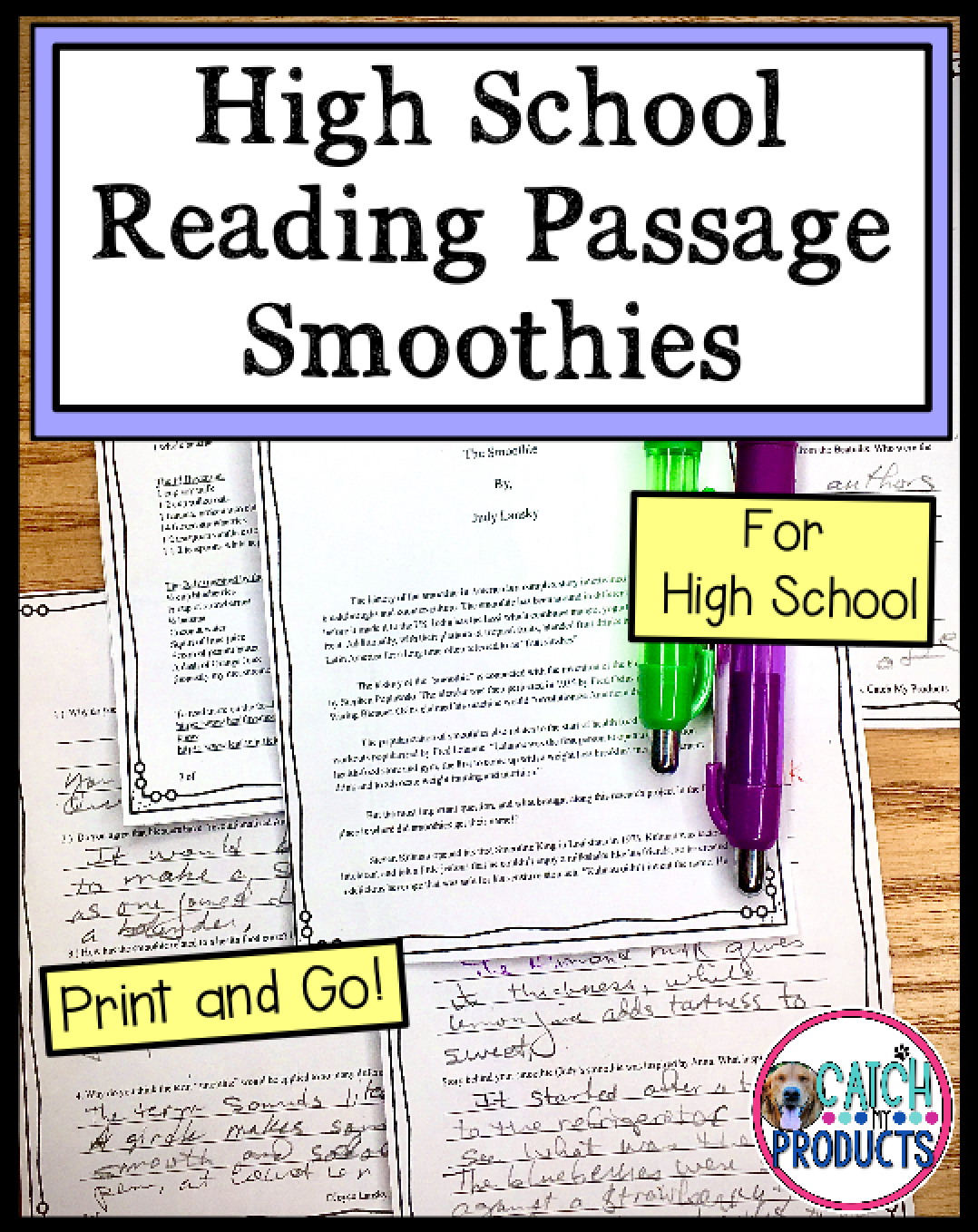 High School Reading Comprehension Passage And Questions In