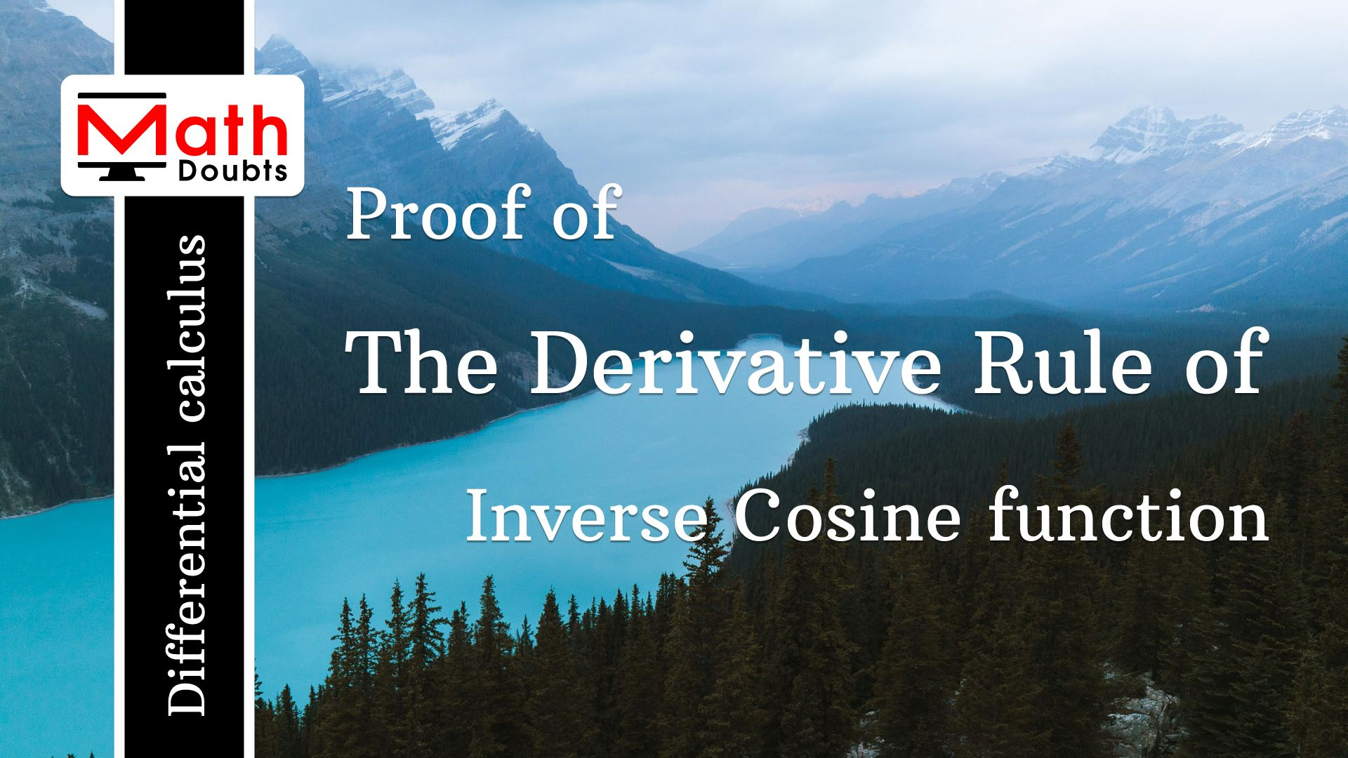 Learn How To Prove The Derivative Formula For The Inverse