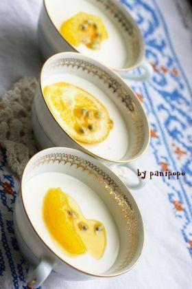 「オレンジ&フロマージュブラン・ムース」panipopo | お菓子・パンのレシピや作り方【corecle*コレクル】
