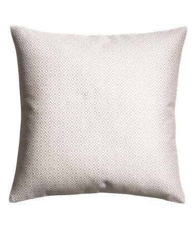 Jacquard Weave Cushion Cover White Patterned Home H M Us Kissenideen Kissen Kissenhullen