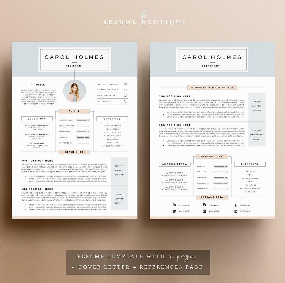 Resume Template 5 pages | Milky Way | Template, Design resume and ...