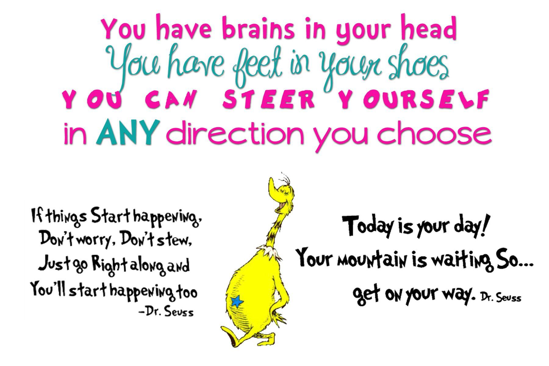 Happy Birthday Dr Seuss Inspirational Quotes For Kids Quotes For Kids Back To School Quotes