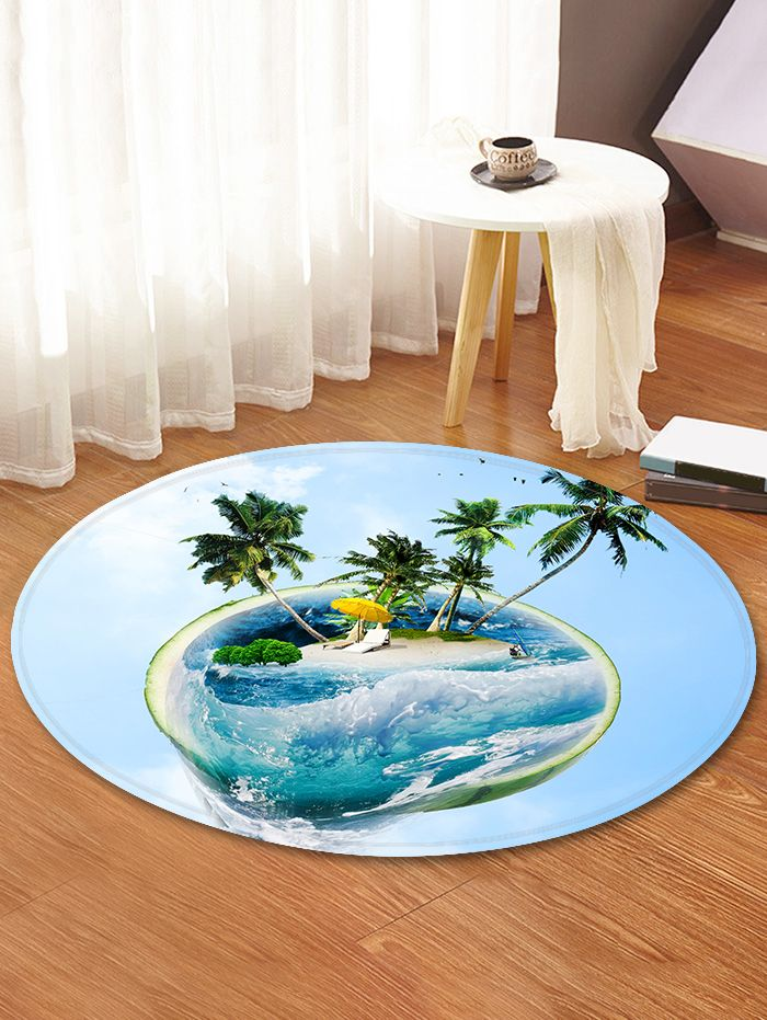 Watermelon Island Pattern Round Area Rug