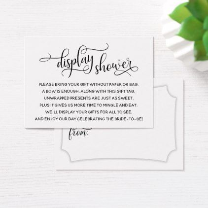 3987b6b371ec Elegant No Wrap Display Bridal Shower Gift Tag - script gifts template  templates diy customize personalize special