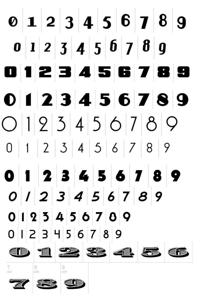 Number 3 Tattoo Ideas: Vintage Numbers #type #numbers #font