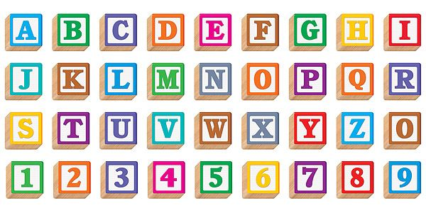 Wooden Blocks Letters J  R Educational Supplies  Bulletin