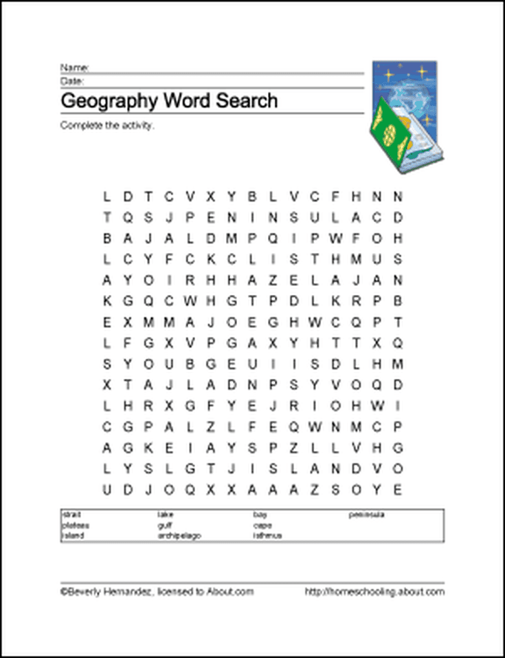10 Worksheets That Will Teach Your Child Basic Geography Terms