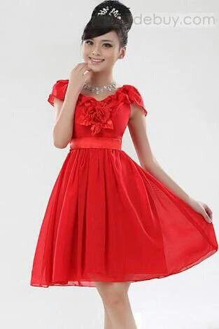 b20f0ff23 Vestido de color rojo Vestidos De Colores