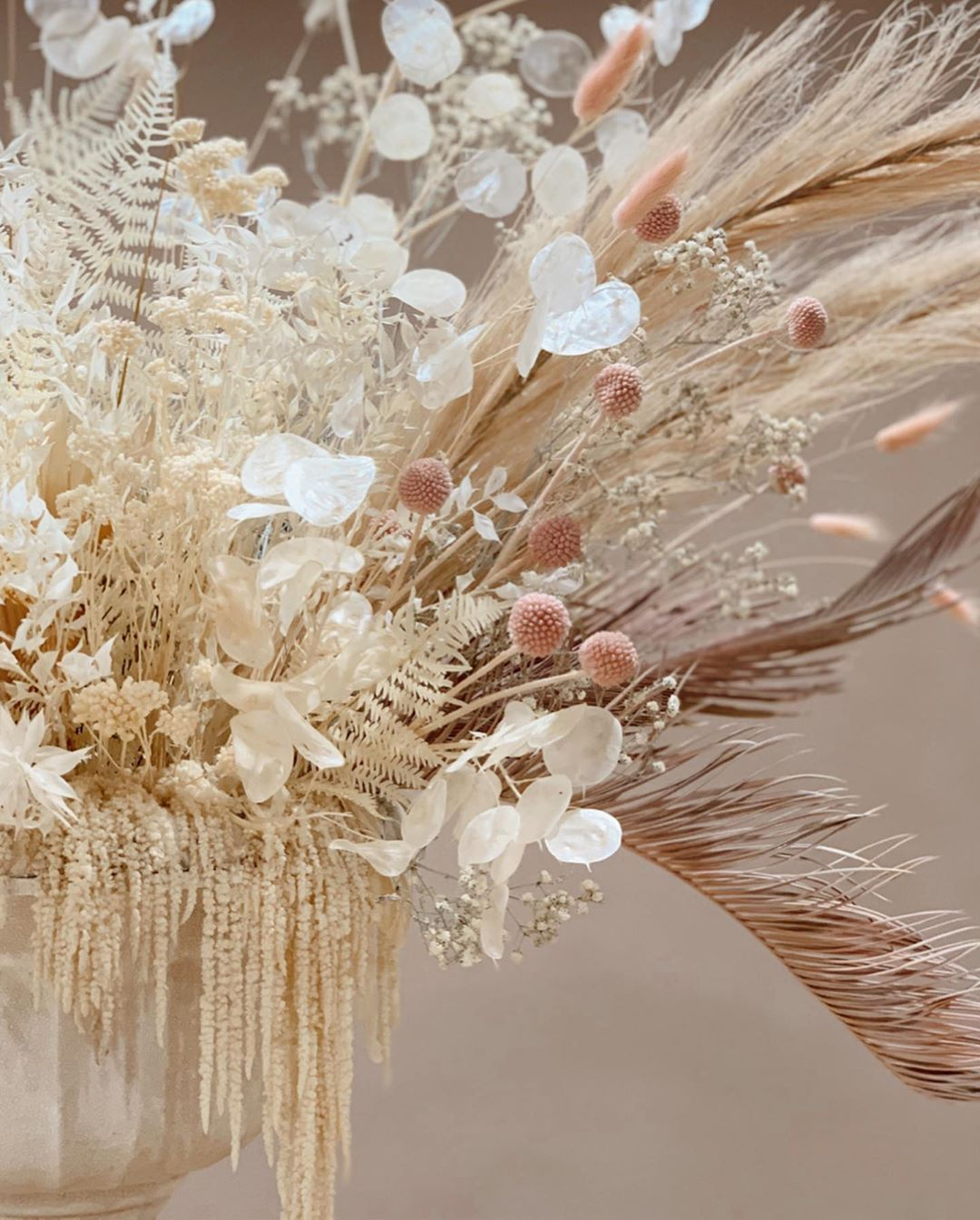 Natural Tall Dried Arrangement Dried Flower Bouquet Dried Flower Arrangement Neutral Palette Flower Decor Real Dried Flowers Pampas Grass Dried Flower Bouquet Dried Flower Arrangements Flower Decorations
