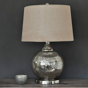 Round antique silver glass lamp and shade sks ts pinterest the exceptionally beautiful silver table lamps the trends of interior decoration keep changing with time and there are no aloadofball Choice Image
