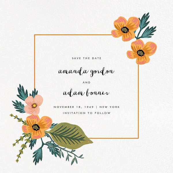 Wedding Gown Preservation Co: October Herbarium (Invitation)