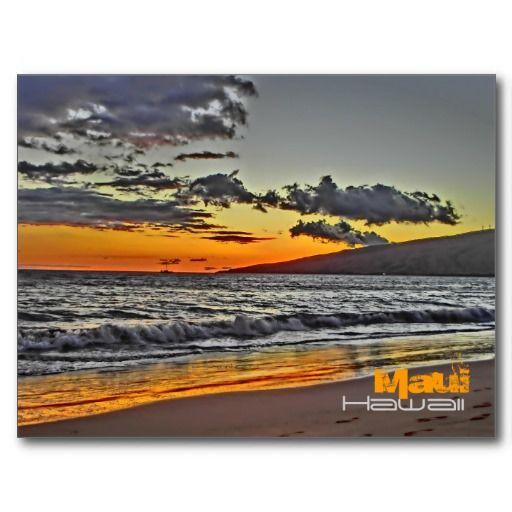 Maui Hawaii Scenic Beach Postcard