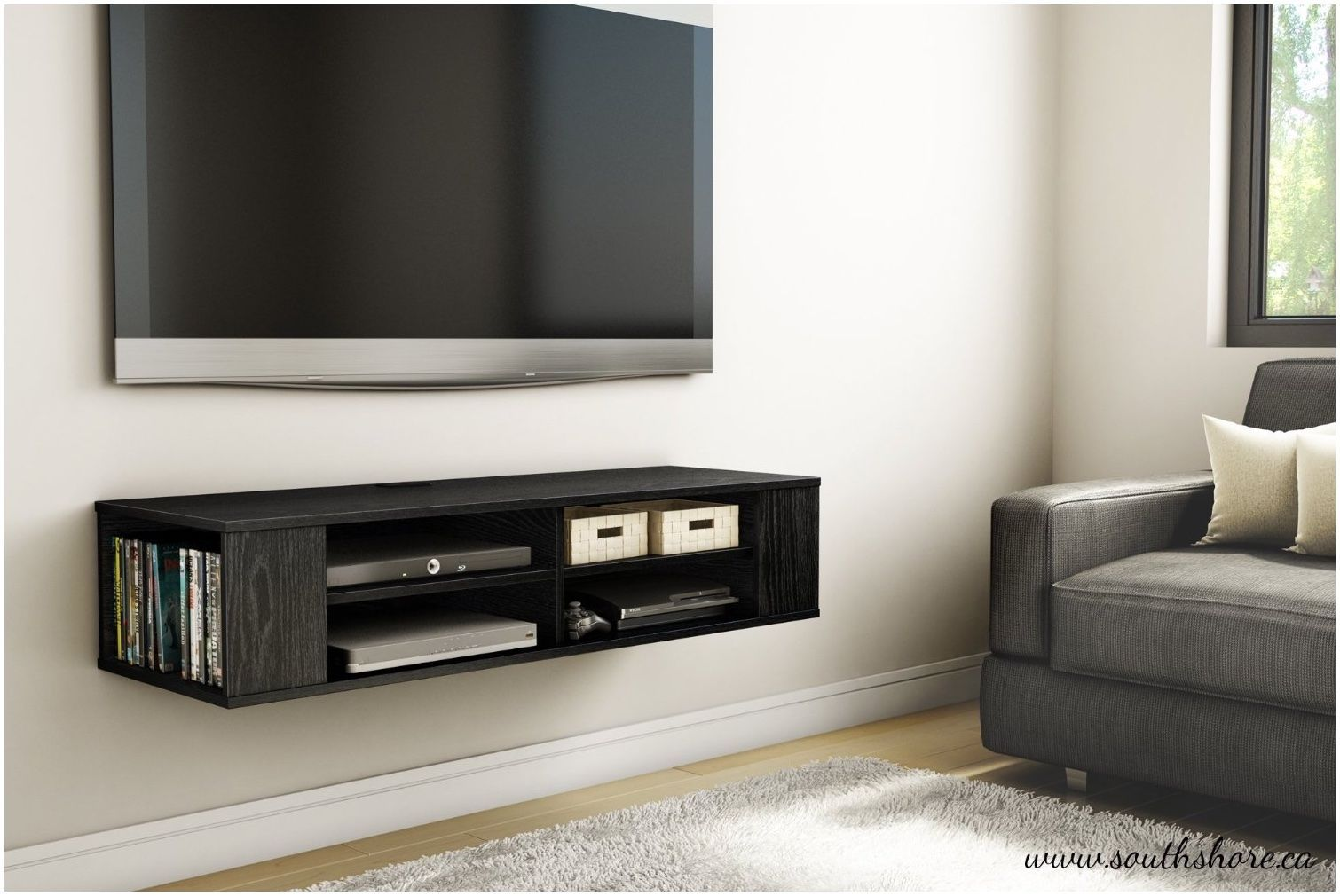 Floating Shelf For Wall Mount Tv Floating Cabinets Wall Mounted