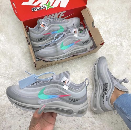 nike air max 97 whitemens on feet