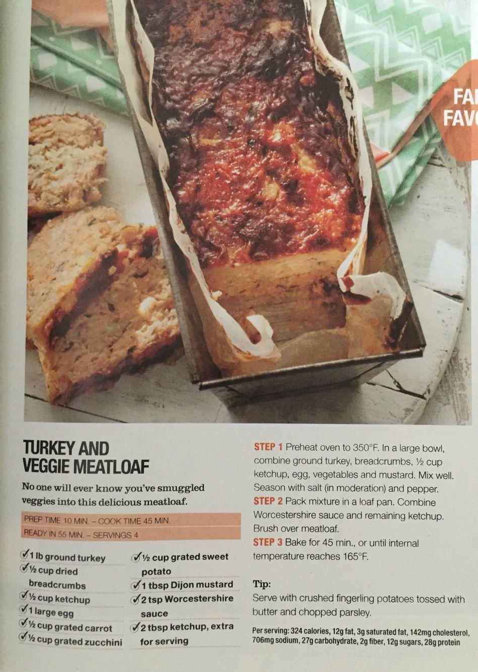 Turkey & veggie meatloaf