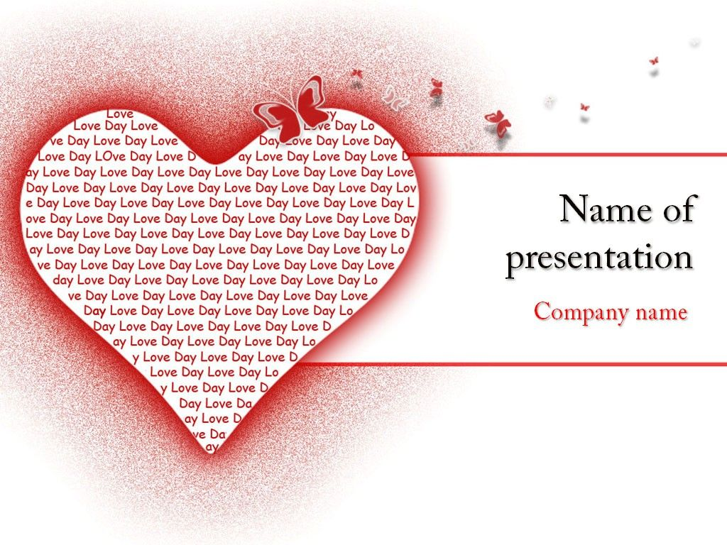 In Love PowerPoint Template | Templates | Pinterest
