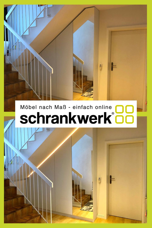 Treppenunterschrank Schrankwerk De In 2020 Dachzimmer Einrichten Schrank Dachschrage Treppe