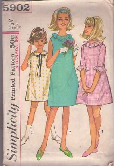 MOMSPatterns Vintage Sewing Patterns - Simplicity 5902 Vintage 60\'s ...