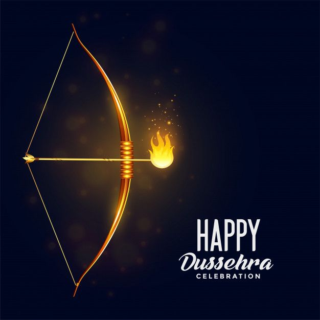 Download Bow And Burning Arrow Happy Dussehra Fest