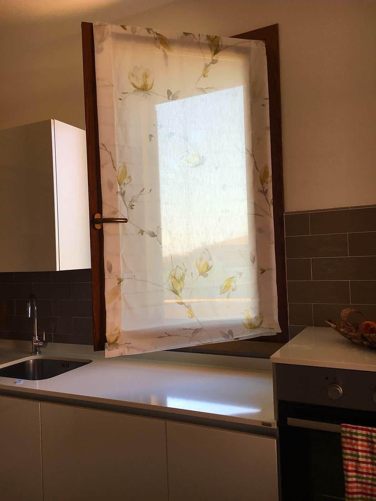tenda a pacchetto a vetro su misura per cucina #tende ...