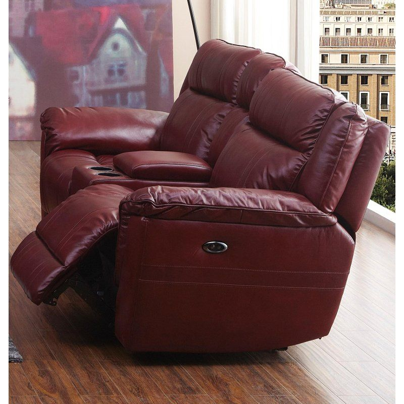 Remarkable Red Leather Match Manual Dual Reclining Loveseat K Motion Creativecarmelina Interior Chair Design Creativecarmelinacom