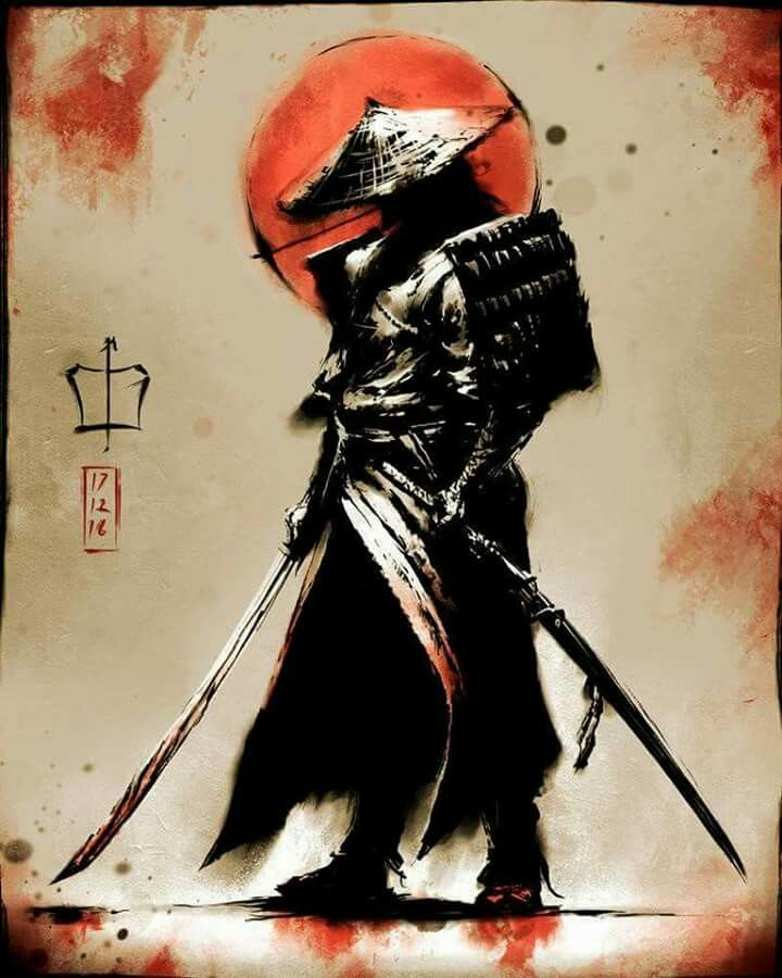 2cc4876ad SAMURAI WARIOR Shogun Tattoo, Ronin Tattoo, Samurai Mask Tattoo, Female  Samurai Tattoo,