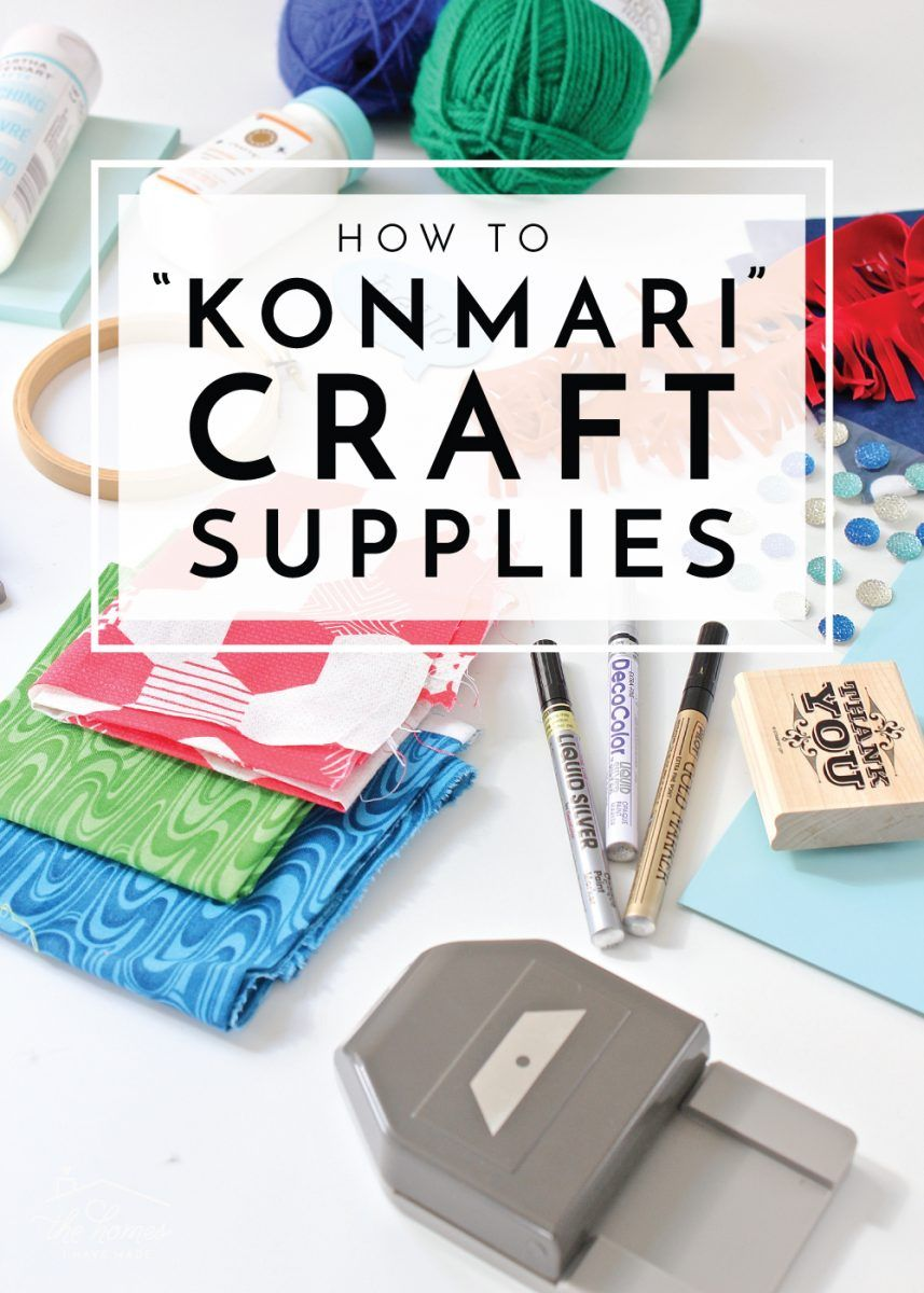 How to KonMari Craft Supplies images