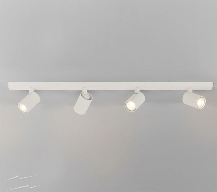 Ascoli 4 Spotlights on a Bar in White using 4 x 50W GU10, Dimmable ...