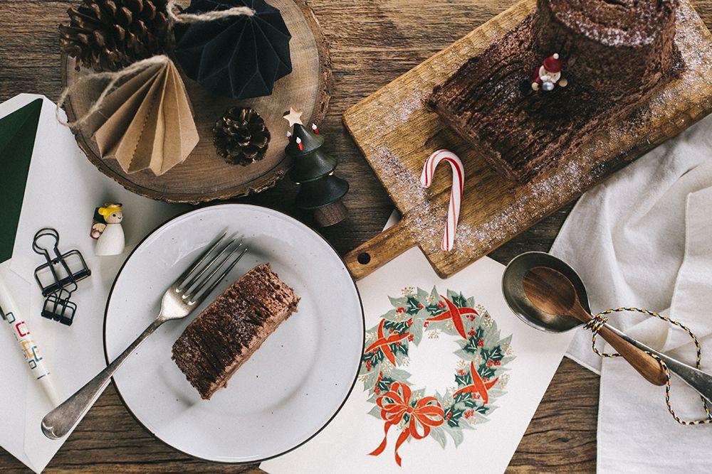 【Cake│耶誕橙酒可可柴薪蛋糕】 | Talk Less