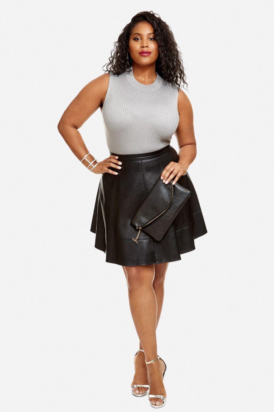 1e0dbdc34f76 Faux Leather Skirt Plus Size – DACC