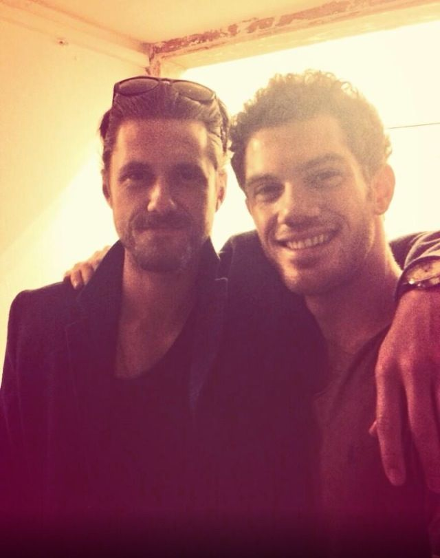 Alistair Brammer And Aaron Tveit Les Mis Reunion Via Alistairs
