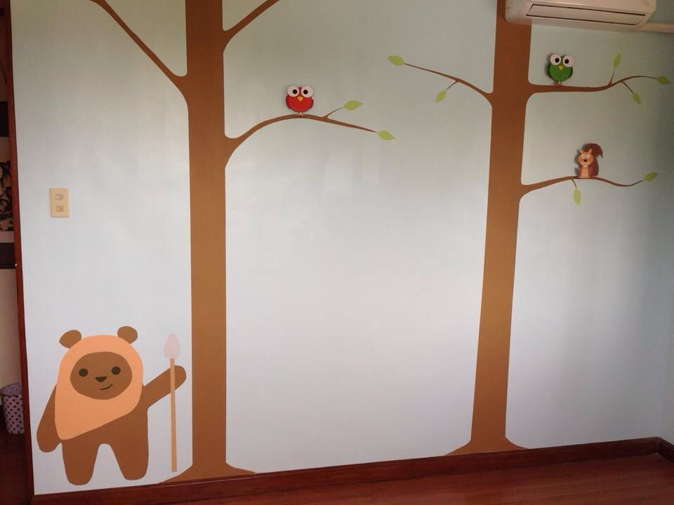 Wall for baby's room