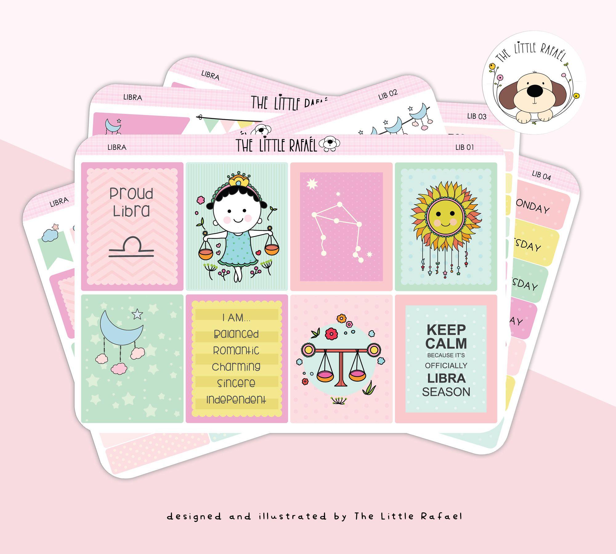 Zodiac LIBRA Birthday Functional Hand Drawn Planner