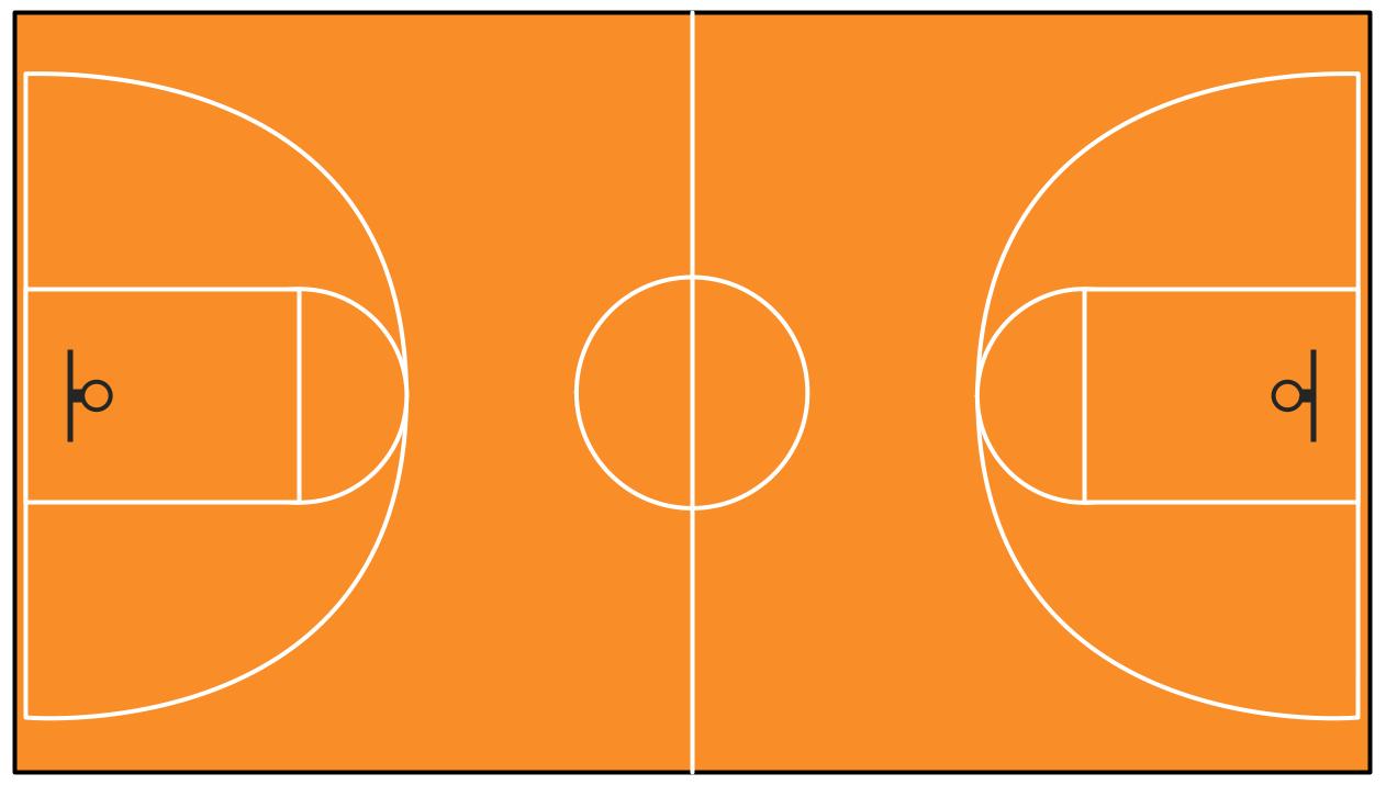 Basketball Court Template Basketball Floor Outdoor