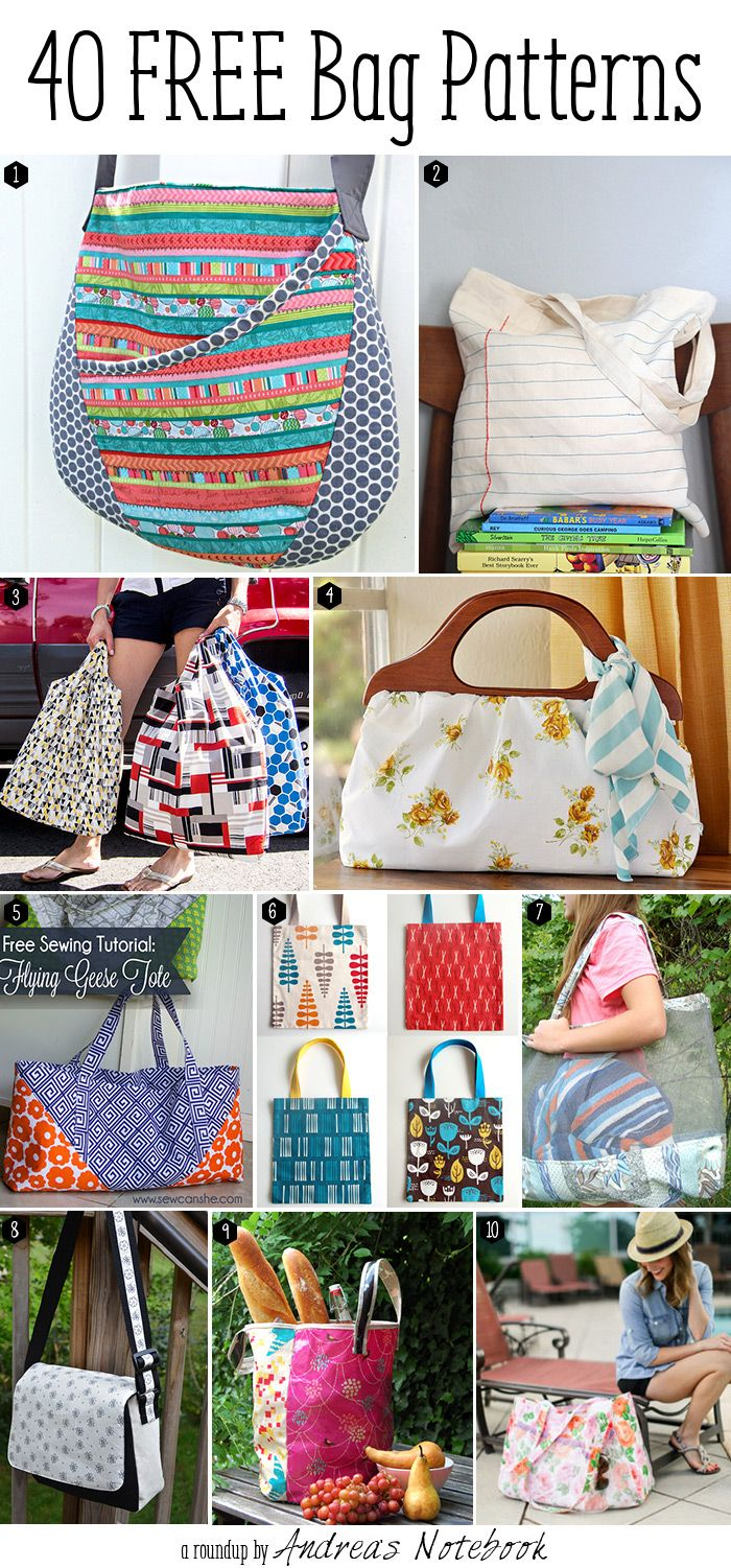 40 Free Bag Pattern Tutorials Some Really Cute Bags All With Instructions