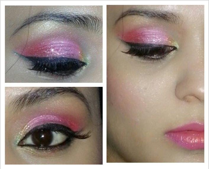 Indian Bridal Pink Eye Makeup Tutorial