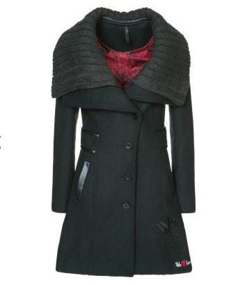 Desigual MELODI Manteau classique noir prix promo soldes Zalando 185.00 €  TTC c52060f905b