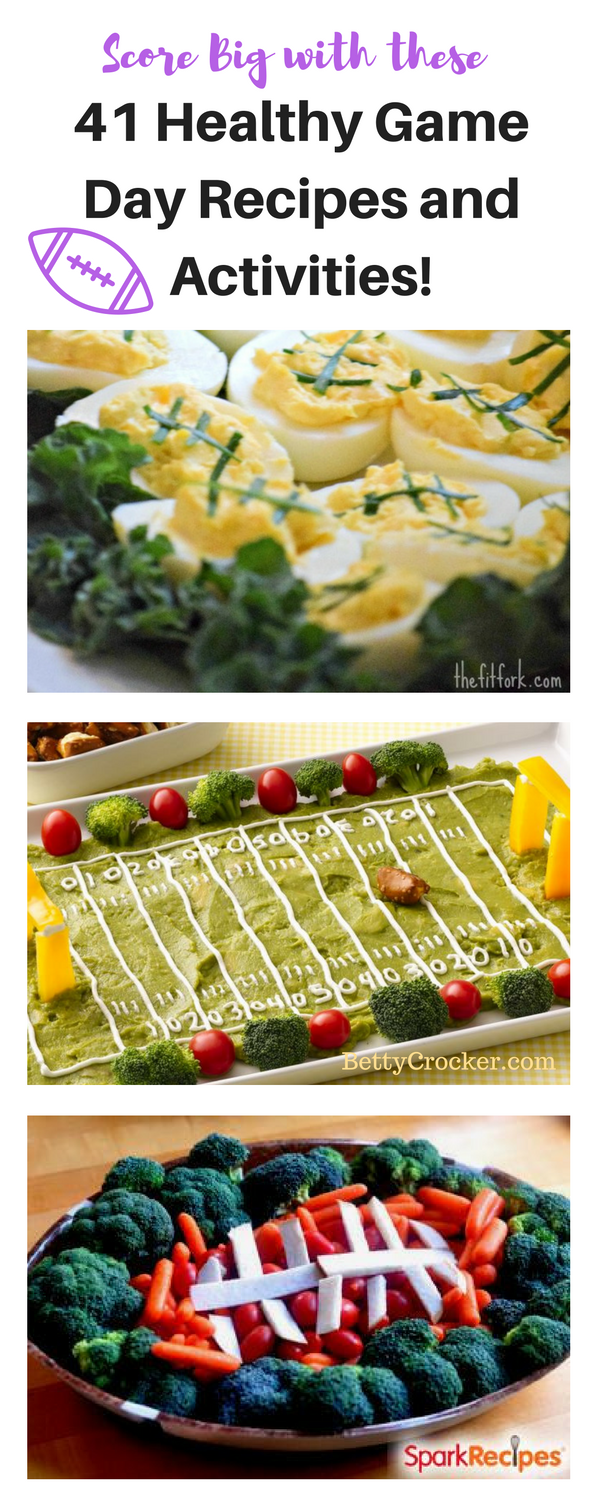 I'm so excited for football season. I want to try these healthy recipes! I love all of the football themed recipes.