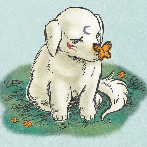 Sesshomaru :D as a puppy.  That's just too cute.