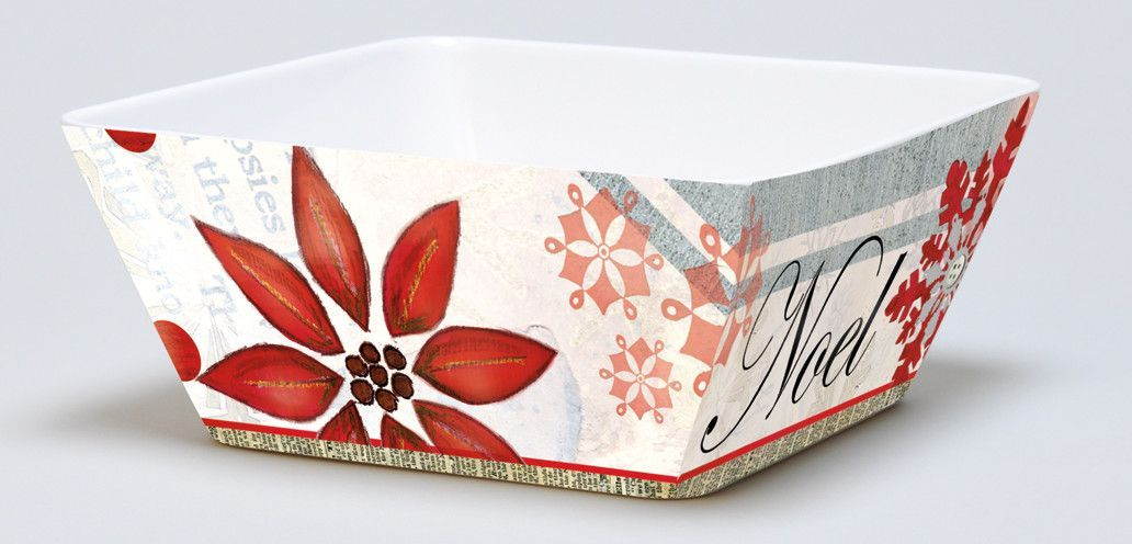Winter Holiday Melamine Square Bowl