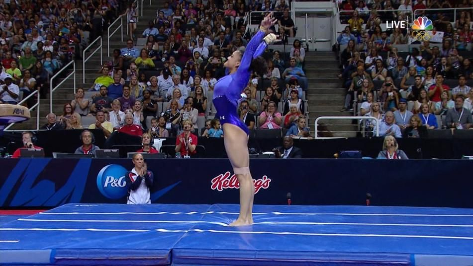 floor gymnastics olympics. Olympic Trials: Laurie Hernandez Scores 15.15 On Vault Floor Gymnastics Olympics E