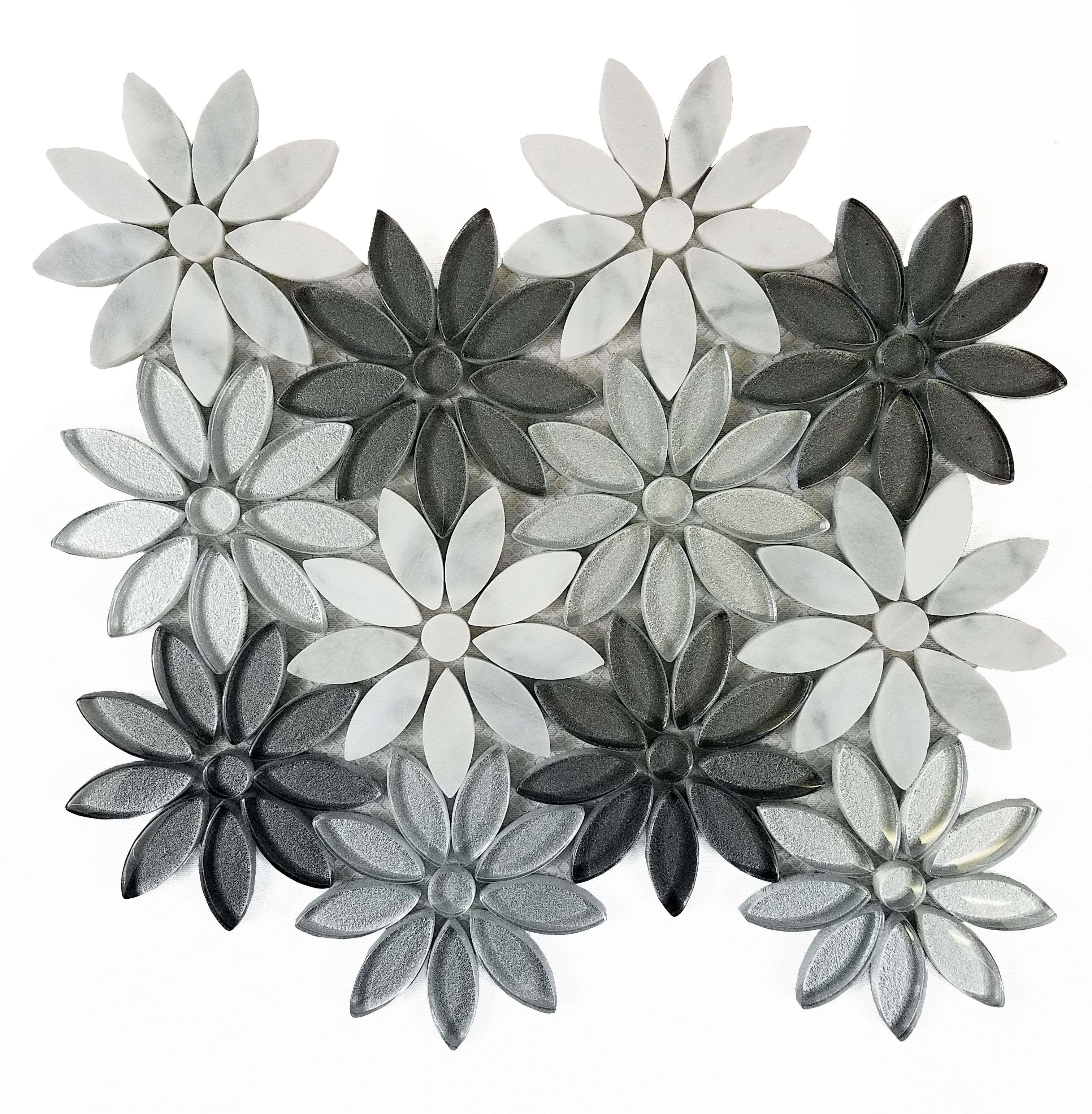 Abolos Flower Fusion (With images) Mosaic tiles, Mosaic