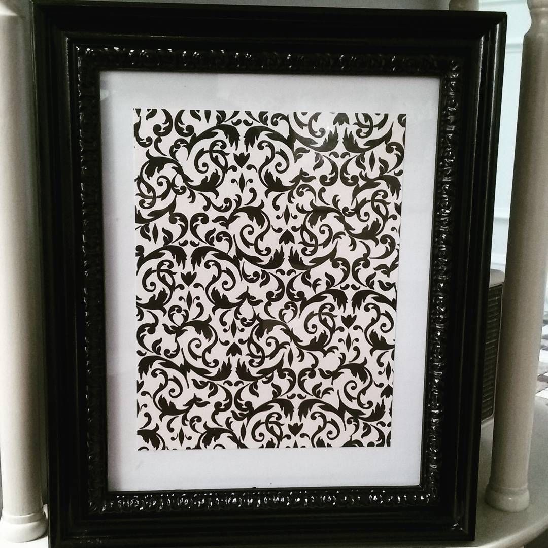 Simple frame + a fun scrap paper = easy, inexpensive & pretty decor = TOTAL WIN #whiteandruby on instagram for more ideas