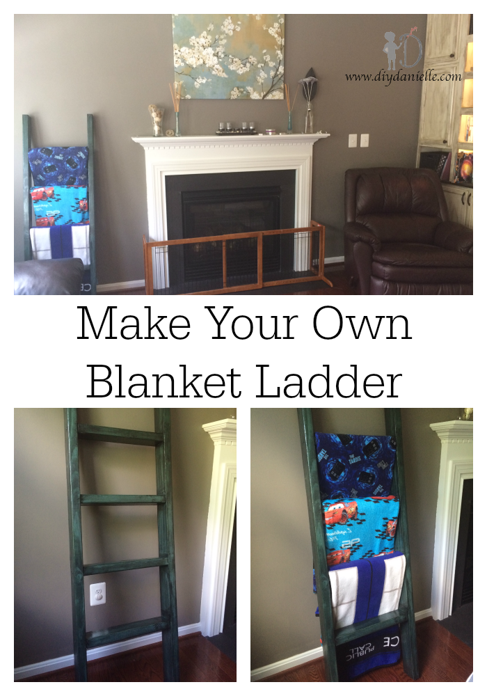 DIY Blanket Ladder Free Plans Pandora, Blanket ladder