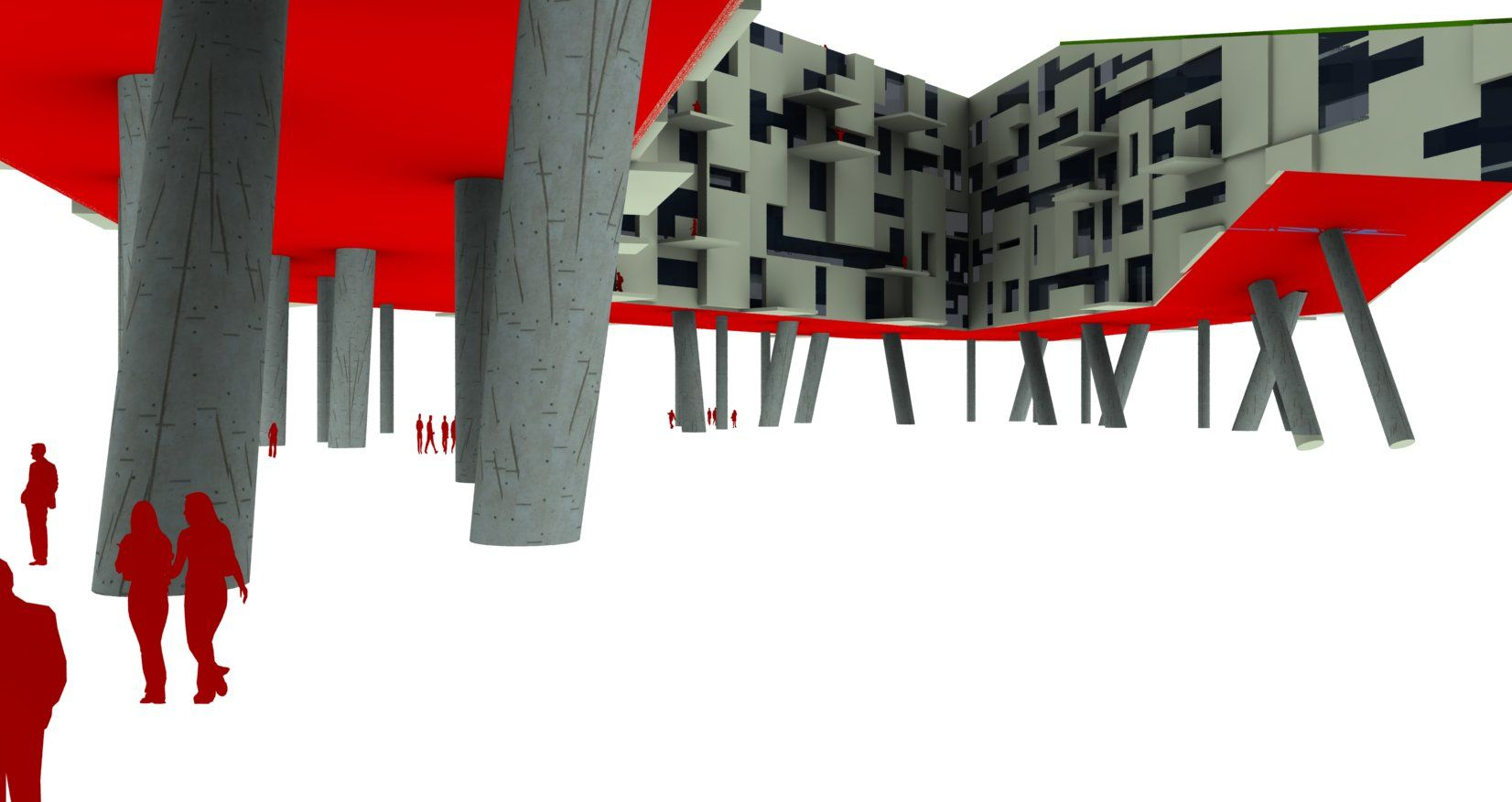Proposed luxury housing for the Miami Civic Center Competition (2010)