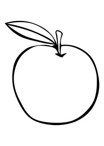 Kleurplaat Appel Templets Pinterest School Fruit And Education