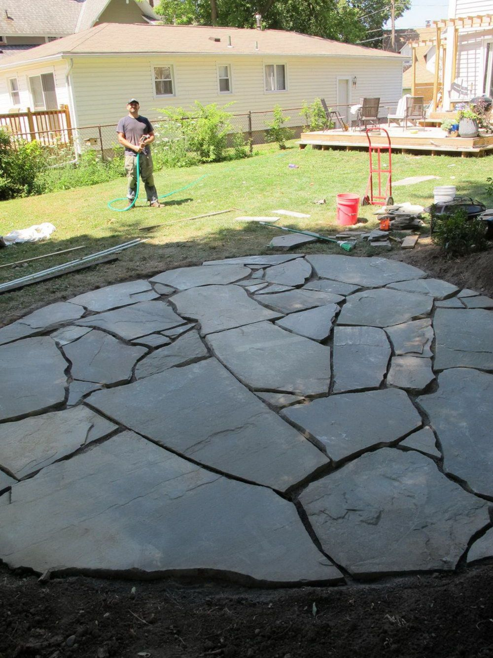 How To Build A Flagstone Patio On Uneven Ground