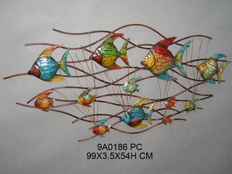 Fish Metal Wall Art fish metal wall decor, view wall decoration, home broad product
