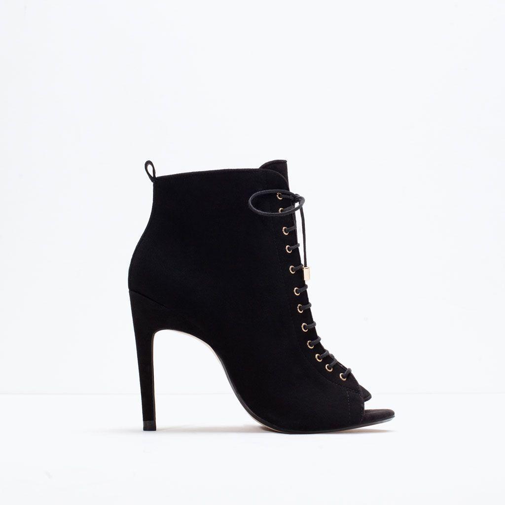 Top Mode Femme Cuir Noir Hi Bottes EU 35-afficher le titre d'origine